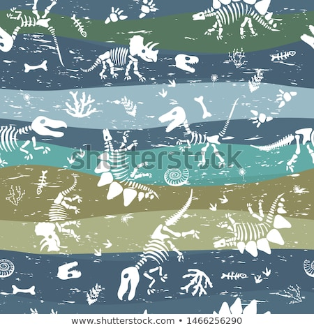 Dinosaurs seamless pattern. Dino texture. Prehistoric monster li Stock photo © MaryValery