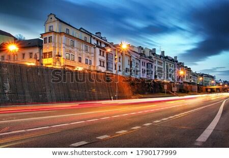 улице · фонарь · Прага · тень · желтый · стены - Сток-фото © givaga