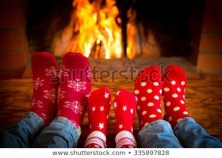 Mujer Navidad calcetines ilustración sexy piernas Foto stock © adrenalina