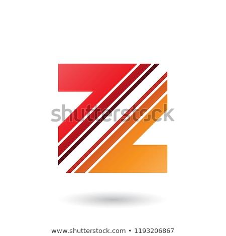 Piros narancs z betű átló csíkok vektor Stock fotó © cidepix