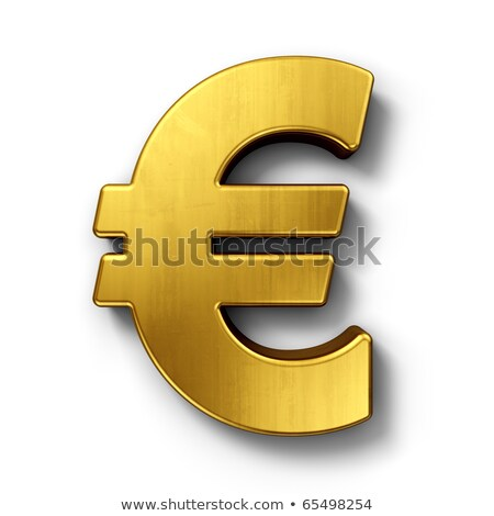golden currency symbol euro 3d stock photo © djmilic