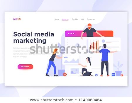 Teia página modelo de design digital marketing móvel Foto stock © makyzz