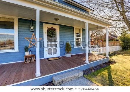 paysage · pierre · extérieur · de · la · maison · escaliers - photo stock © iriana88w