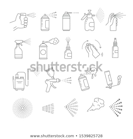 Spray bottle with mist vector illustration icon, isolated on mod Stock photo © kyryloff