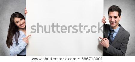 Dois pessoas de negócios mulher empresário assinar Foto stock © Minervastock