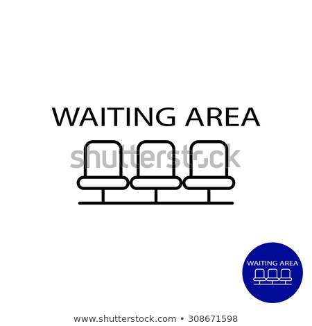 Airport Seats Vector. Hall Departure. Public Terminal Concept. Waiting Area. Isolated Flat Cartoon I Stock photo © pikepicture