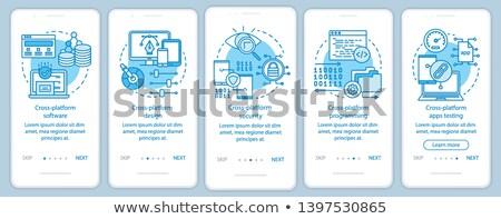 Cyber security software app interface template. Stock photo © RAStudio