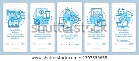 Veiligheid software app interface sjabloon ontwikkelaars Stockfoto © RAStudio