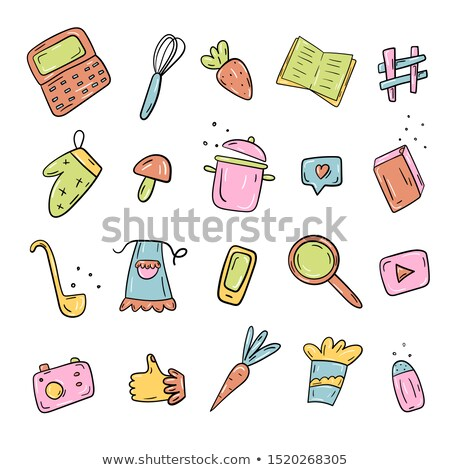 Recipe Chef Hat Icon Notebook Vector Illustration Stock photo © robuart