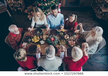 Big family gathering on Christmas day Stock photo © colematt