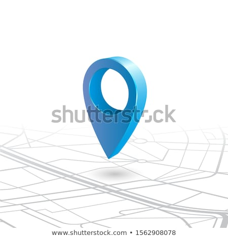 Map pointer or GPS location symbol over the application icon. Ve stock photo © kyryloff