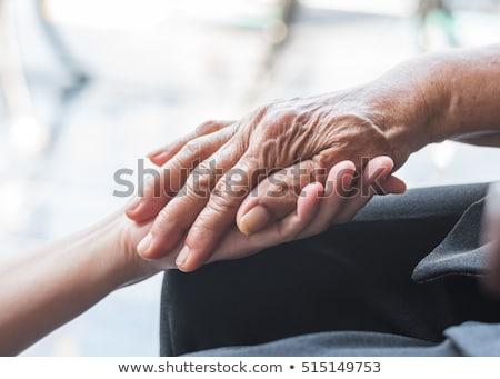 zorg · ouderen · ondersteuning · vrouw · familie · hand - stockfoto © lightsource