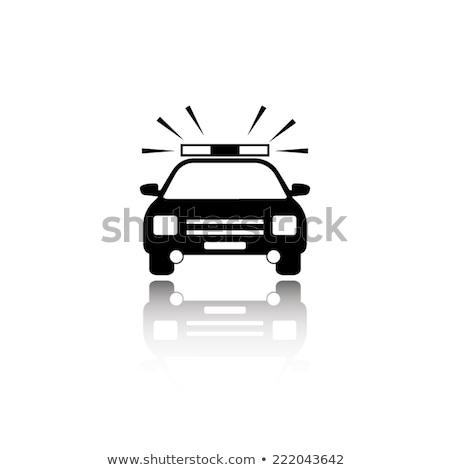 Oficial de policía coche iconos 3D mujer policía Foto stock © robuart