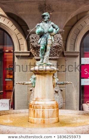 ガチョウ 男 噴水 スイス 詳細 市 ストックフォト © boggy