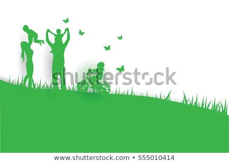 happy family children posters vector illustration stock photo © robuart