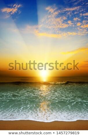 fantasztikus · nap · tenger · jókedv · napsugarak · fölött - stock fotó © serg64