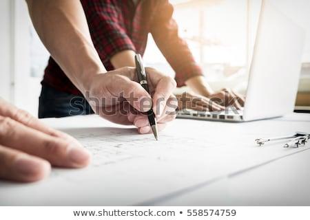Pessoas engenheiro mão desenho plano Foto stock © snowing