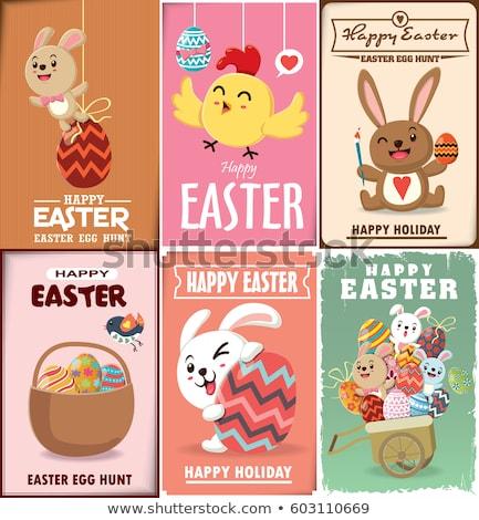 aves · huevos · Pascua · naturaleza · diseno · conejo - foto stock © ayelet_keshet