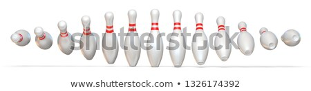 bowling · 3d · render · kavram · 3D · yalıtılmış · vermek - stok fotoğraf © djmilic
