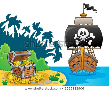 Image with pirate vessel theme 7 Stock photo © clairev