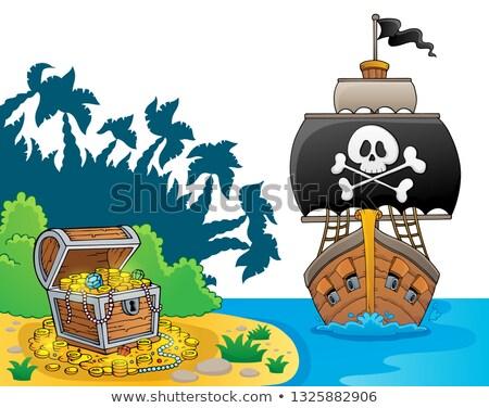 pirata · navio · tópico · imagem · água · mar - foto stock © clairev