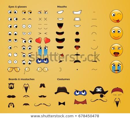 próprio · cena · ilustração · casa · sorrir - foto stock © colematt