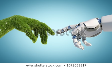 Robot groene energie robotachtige 3d illustration computer technologie Stockfoto © limbi007