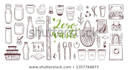 Conjunto isolado zero desperdiçar objetos Foto stock © user_10144511