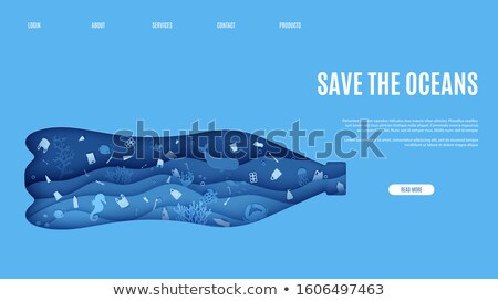 World Water Day eco landing page web template Stock photo © cienpies