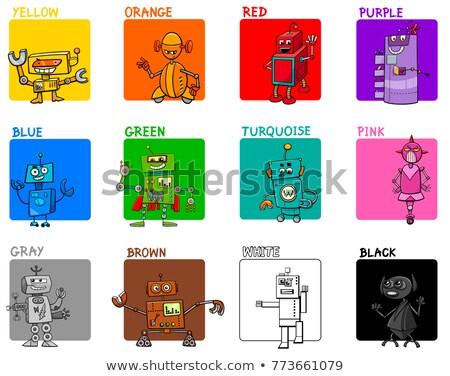 robot · fantasie · karakter · cartoon · illustratie · grappig - stockfoto © izakowski
