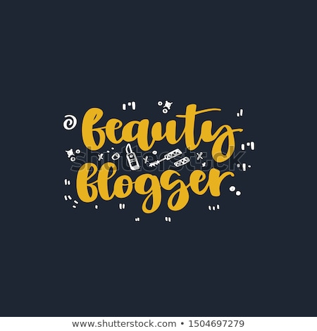 Beleza blogger bandeira feminino usuário Foto stock © RAStudio