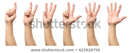 Count three with hand gesture Stock photo © colematt
