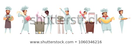 set of confectioner tools and sweets stock photo © jossdiim