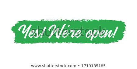 Igen szalag poszter matrica szöveg ikon Stock fotó © FoxysGraphic