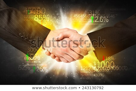 Negocios beneficio socios planificación trabajo en equipo plan Foto stock © Lightsource