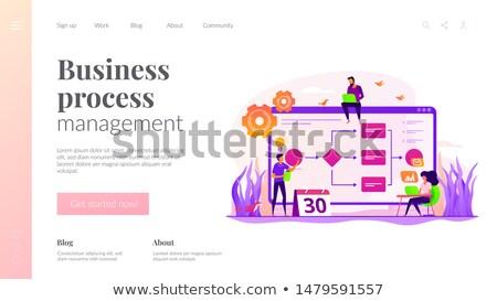 Działalności proces zarządzania app interfejs szablon Zdjęcia stock © RAStudio