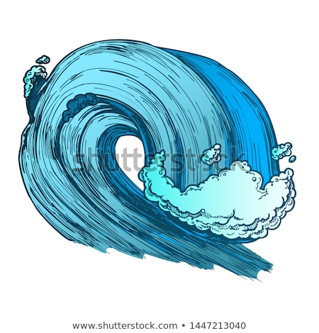Color Breaking Pacific Ocean Marine Wave Storm Vector Stock photo © pikepicture