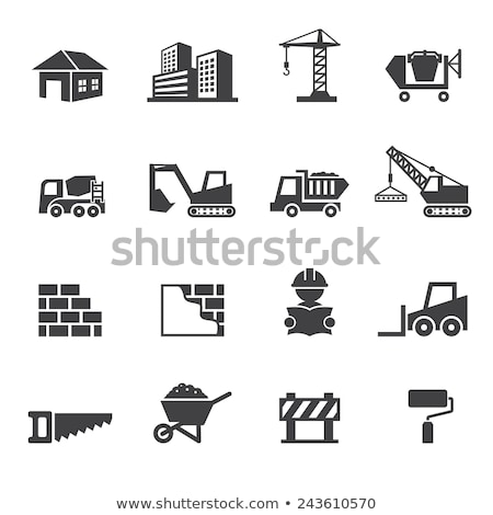 Icon Of Construction Bulldozer Stock photo © angelp