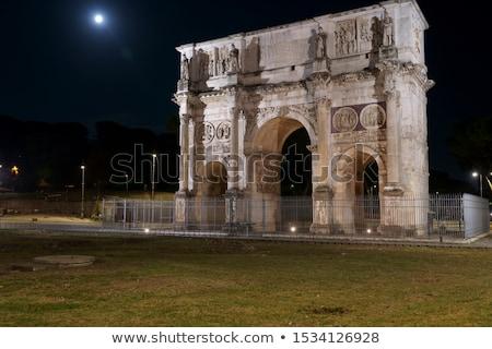 ív Róma Colosseum domb Olaszország művészet Stock fotó © borisb17