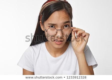 Stock fotó: Csinos · fiatal · tanár · néz · karok · lány