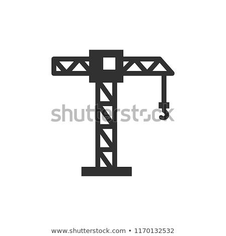 guindaste · ícone · construção · trabalhar · abstrato · fundo - foto stock © Mark01987