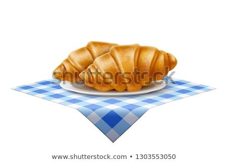 Croissant icône bleu vecteur illustration signe Photo stock © cidepix