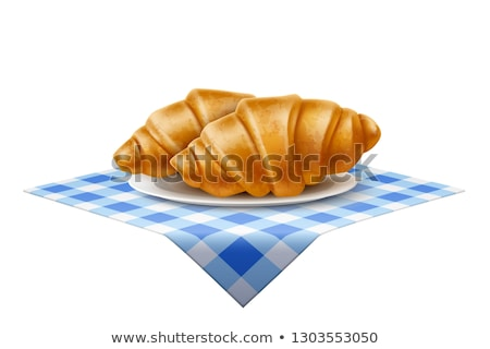 Croissant icon Blauw vector illustratie teken Stockfoto © cidepix