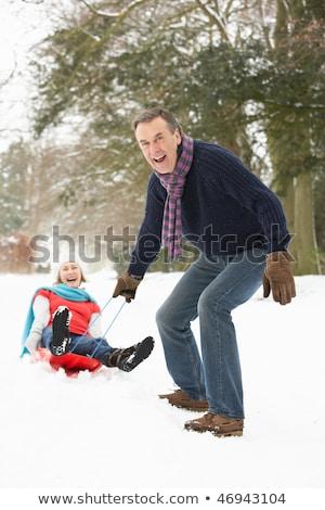 пару · человека · пейзаж · снега · портрет - Сток-фото © monkey_business