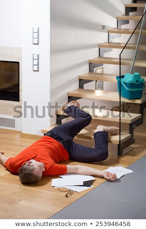 Uomo piano incidente dolore corpo Foto d'archivio © AndreyPopov