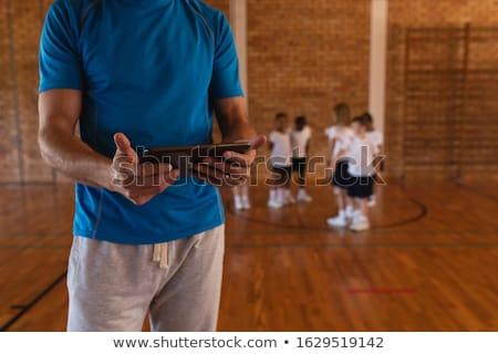 Feminino basquetebol treinador digital comprimido Foto stock © wavebreak_media