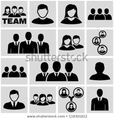 Człowiek kobieta konsultacji ludzi ikona Zdjęcia stock © robuart