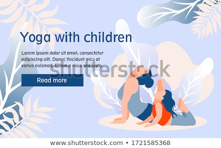 Yoga studio landing web page template Stock photo © cienpies