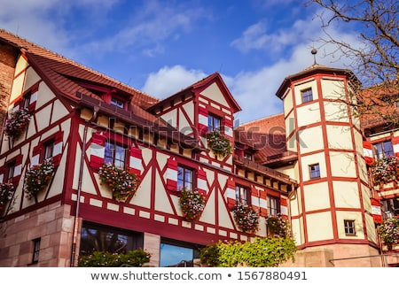 замок Германия мнение башни небе здании Сток-фото © borisb17