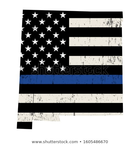 New Mexico police soutien pavillon illustration forme Photo stock © enterlinedesign